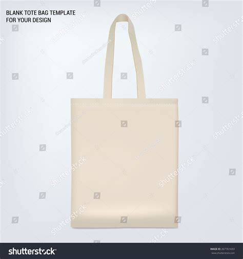 blank white tote bag template for your design stock