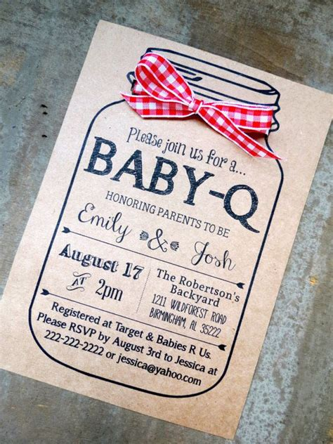 free baby q invitations templates baby q baby shower invitation and envelopes kraft brown