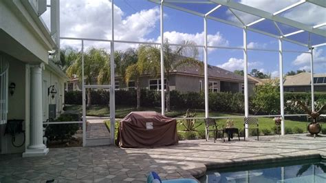 lanai screen lanai screen replacement in debary florida screenpro