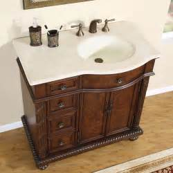 36 quot marble top lavatory bathroom single vanity cabinet
