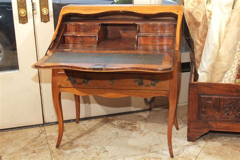 Small French Drop Front Desk With Parquetry Detail At 1stdibs Small Drop Front Desk