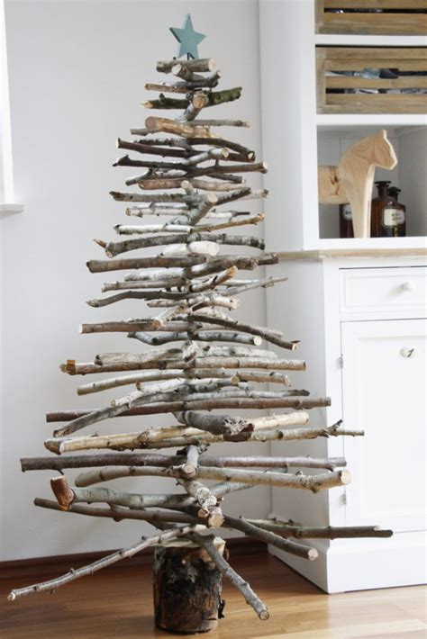 weihnachtsbaum aus holz weihnachtliche diy idee weihnachtsbaum aus holz bauen