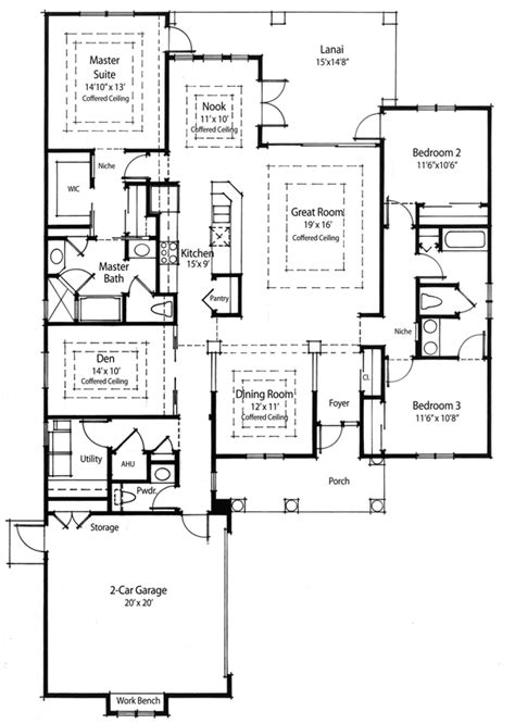 efficiency home plans energy efficient house plan 33019zr 1st floor