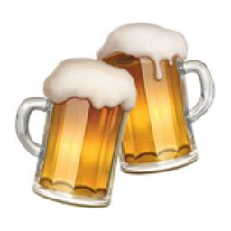 clinking glasses emoji clinking beer mugs emoji u 1f37b