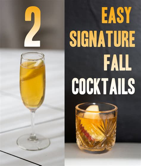 get t done two easy fall cocktails for weddings