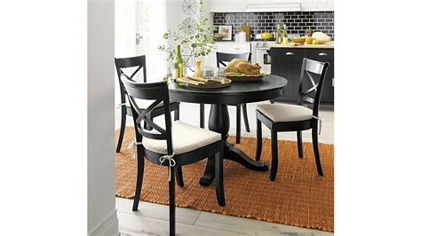 crate and barrel dining room tables avalon 45 quot black round extension dining table crate and