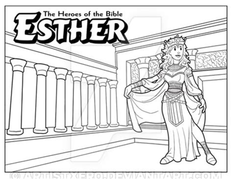 Coloring Page Esther by Esther Coloring Page By Artistxero On Deviantart