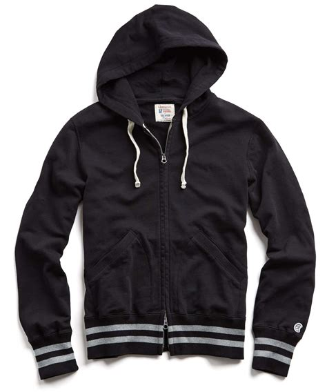 Zipper Hoodie Porter Robinson 1 todd snyder mr porter collaboration tipped zip hoodie in black in black for lyst