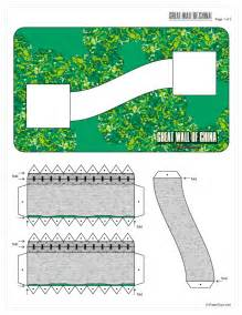 Great Papers Templates by Great Wall Of China Paper Model Paper Toys Models And