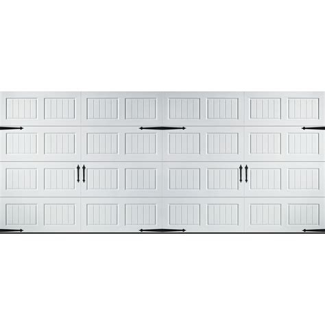 16 X 7 Garage Door Lowes by Shop Pella Carriage House Series 16 Ft X 7 Ft Insulated