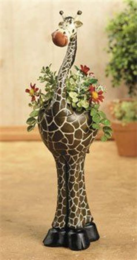 new giraffe flowerpot planter safari home decor planters