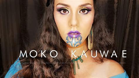 moko tattoo youtube tribal makeup tutorial moko kauwae female maori chin