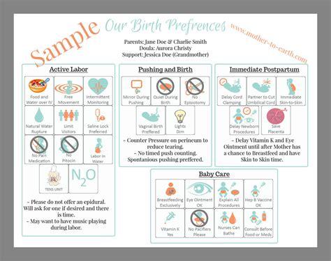 Visual Birth Plans Birth Plans Nurses Will Love Blog Aurora Christy Olympia Doula Visual Birth Plan Template