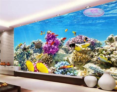 fish wall mural aliexpress buy 3d room wallpaper custom mural non