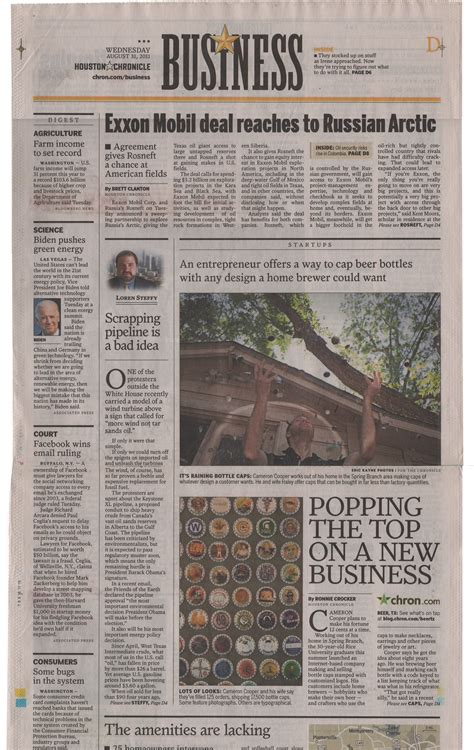 Houston Chronicle Business Section 28 Images Houston S