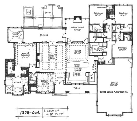5 bedroom open floor plans home plan 1378 now available houseplansblog