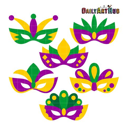 Mardi Gras Masks Clip by Masks Clipart Mardigras Pencil And In Color Masks