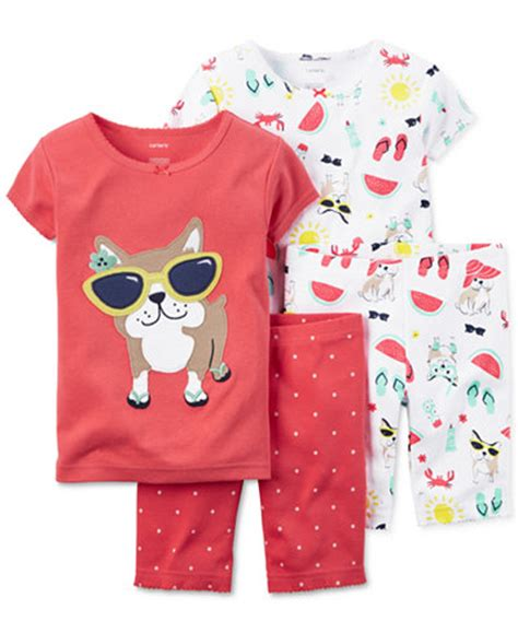 pug pajamas s toddler 4 pug in sunglasses pajama set pajamas baby