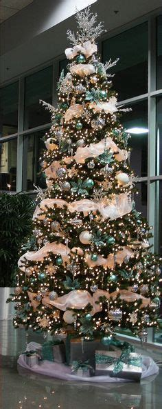 7 Beautiful Tree Themes by Tree Decorating Ideas Turquoise Blue Bronze