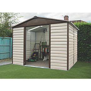 Metal Shed 10 X 6 by Yardmaster Shiplap Sliding Door Apex Shed 10 X 6 Metal