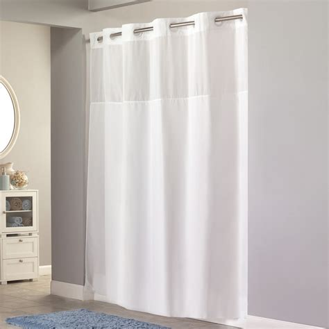 hookless vinyl shower curtain hookless rbh40ls01 shower curtain lowe s canada