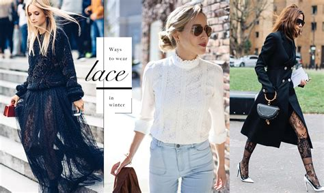 Ways To Wear Lace by Ways To Wear Lace 冬日換上蕾絲單品 展現時髦的優雅姿態 The Femin