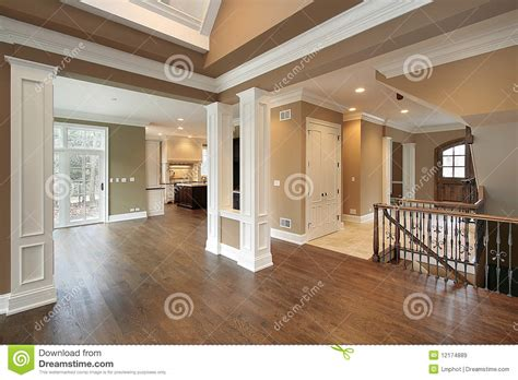 foyer open to dining room foyer and dining room stock image image of lighting