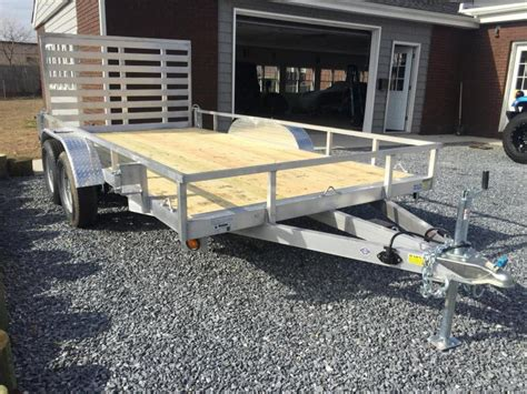 aluminum landscape trailer 2017 quality steel and aluminum 7x14 ta aluminum utility trailer offshore trailers in nj