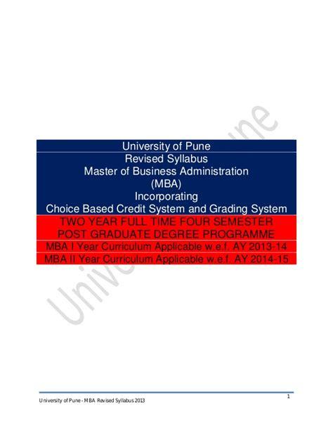 Mba Syllabus Regulation 2013 Affiliated College by Mba Syllabus 2013 Cbcgs Pattern Final
