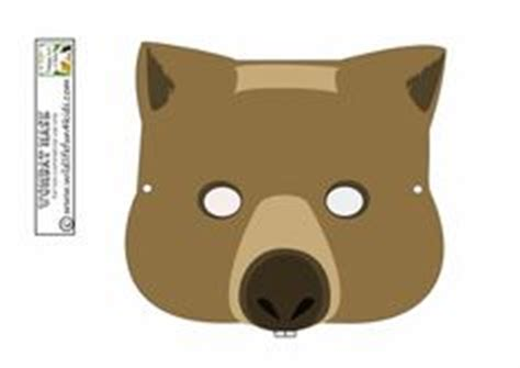 printable wombat mask koala mask mask activity australia unit study