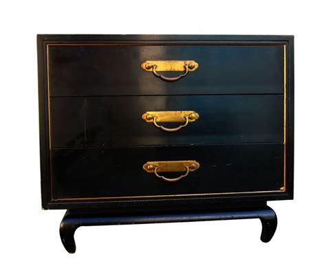 asian style american of martinsville commode with brass