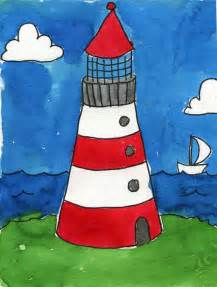 Lighthouse Wall Mural lighthouse art projects for kids