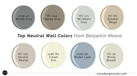 my top neutral wall colors curio design studio