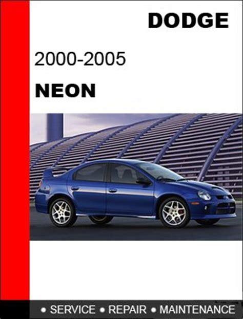 2000 2001 2002 2003 2004 2005 dodge neon service repair manual