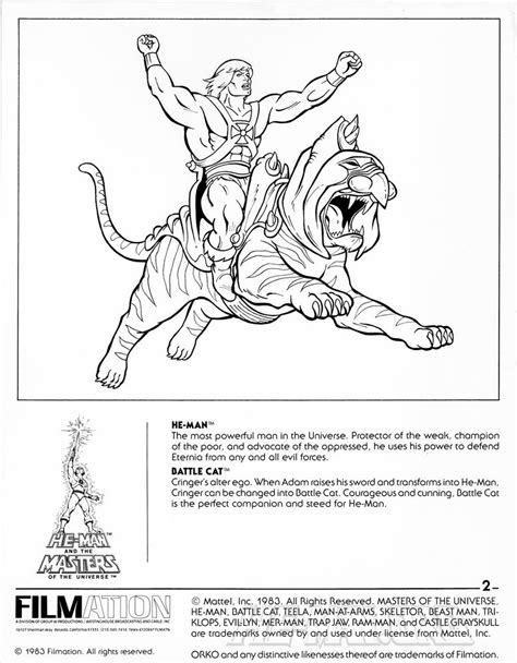 battle cats coloring pages he man org gt cartoons and features gt he man and the
