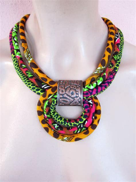 how to make ankara jewelry multicolor necklace fabric necklace orange choker