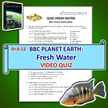 Planet Earth Freshwater Worksheet by David Attenborough Planet Earth And Page On