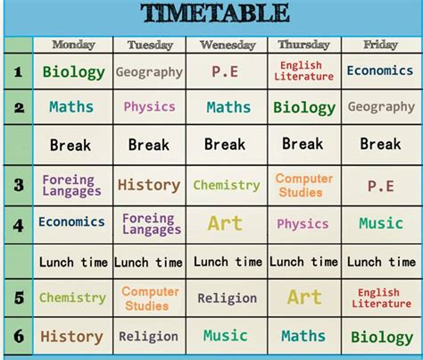 4 Time Tables by Clothes Madrastra A Page Of