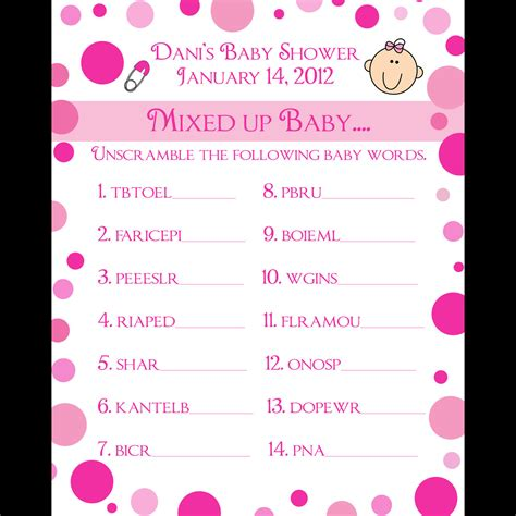 Kokuyo Word Card In Assorted Blue Pink And Yellow 6 Tn 101 85sheets 24 personalized word scramble baby shower cards pink