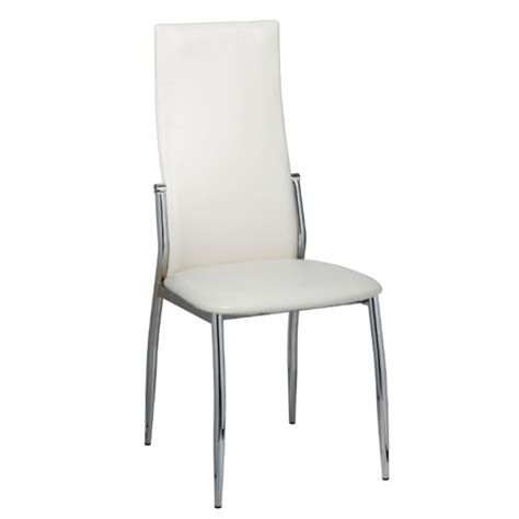 6 artificial leather iron white dining chairs vidaxl