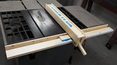 saw bench fence diy table saw fence canadian woodworking and home