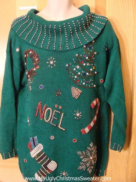 ugly green ugly green 80s bling christmas sweater