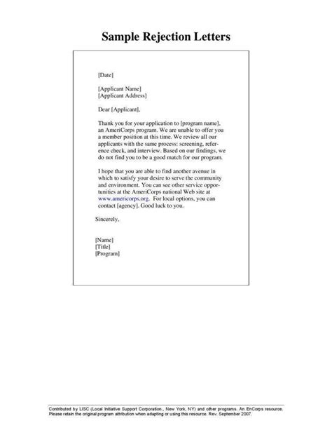 reasons employment rejection letters matter