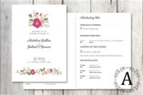 wedding mass booklet template
