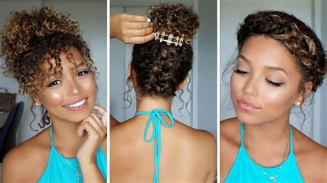 natural curly hairstyles summer 36 best hair styles and tutorials images on pinterest