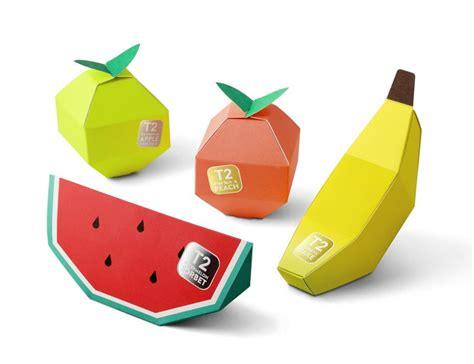 Origami Packaging Design - tea in fruit origami packaging design aterietateriet