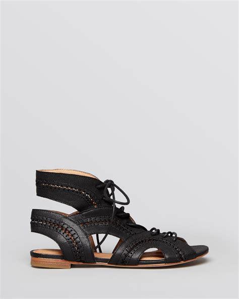 sandals black joie flat gladiator sandals toledo in black lyst