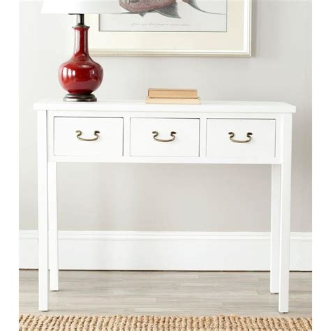 Safavieh Console Table Safavieh White Storage Console Table Amh6568c The Home Depot