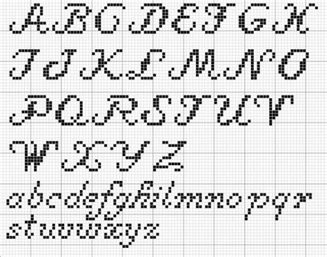 lettere in corsivo a punto croce alfabeto corsivo per di iltelaiopovolaro