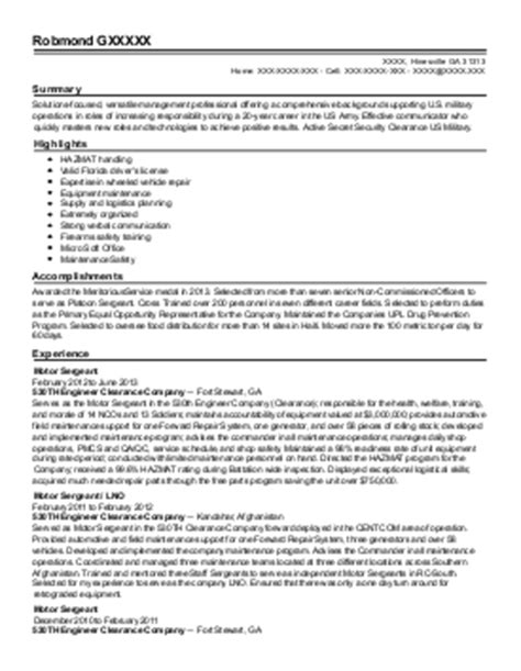 Air National Guard Sle Resume by Crew Chief Resume Exle Air National Guard Phenix City Alabama